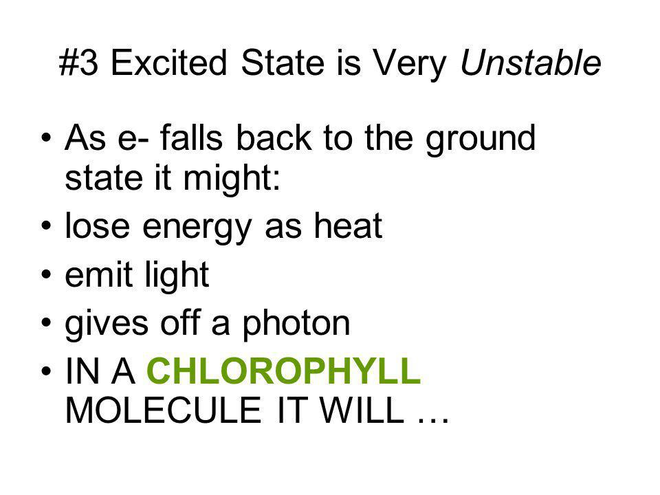 #3 Excited State is Very Unstable