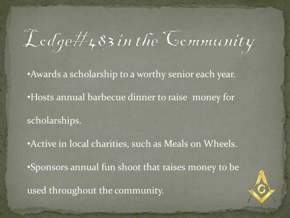 Lodge#483 in the Community