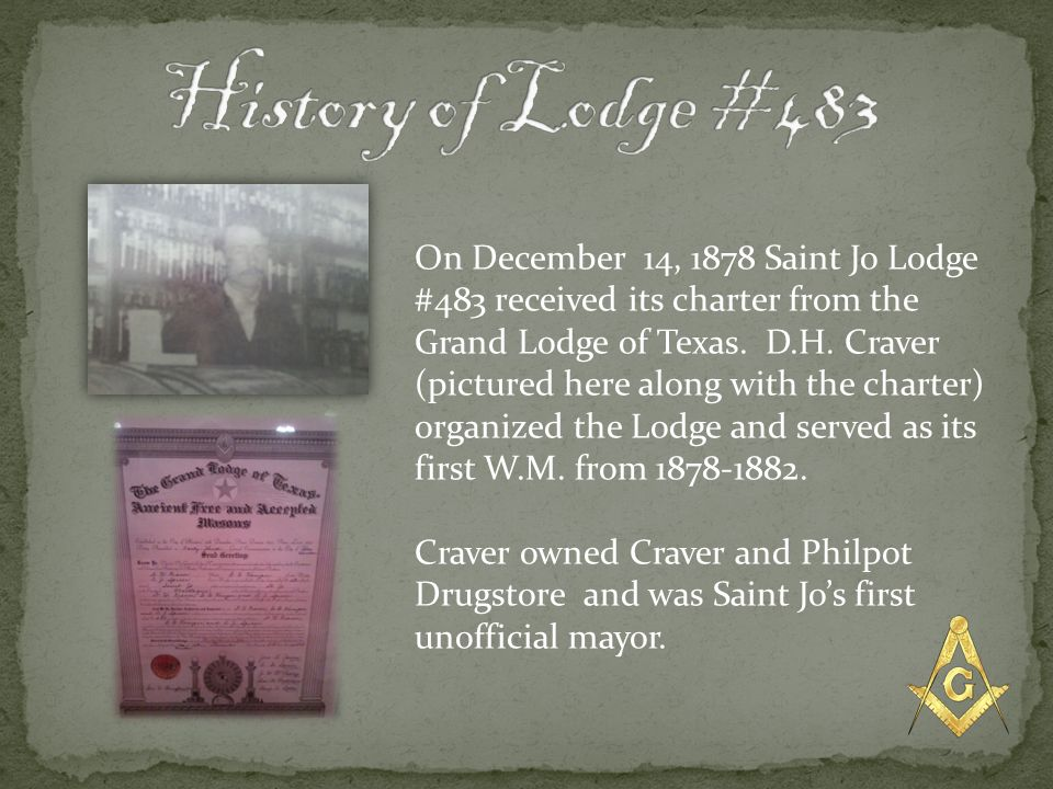 History of Lodge #483