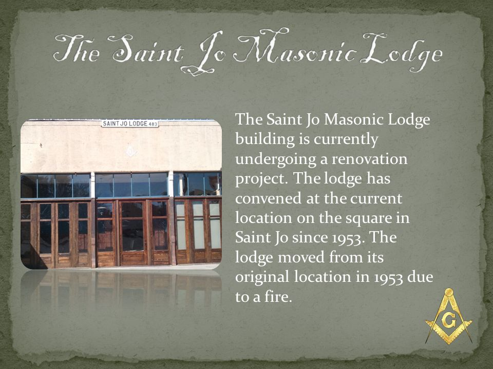 The Saint Jo Masonic Lodge
