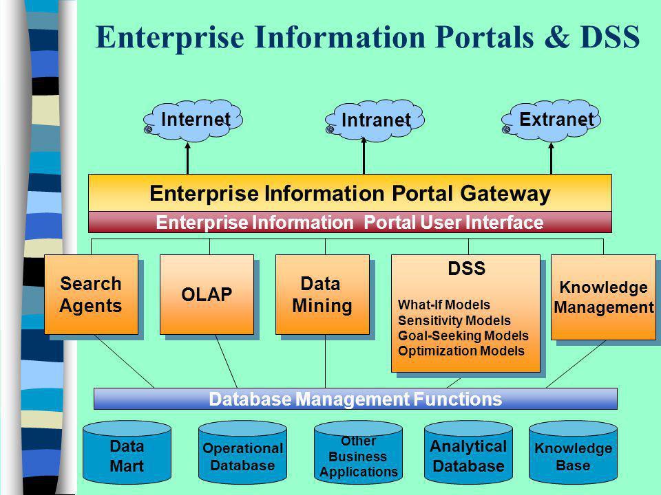 Enterprise Information Portals & DSS
