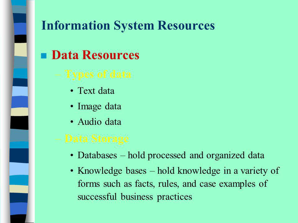 Information System Resources