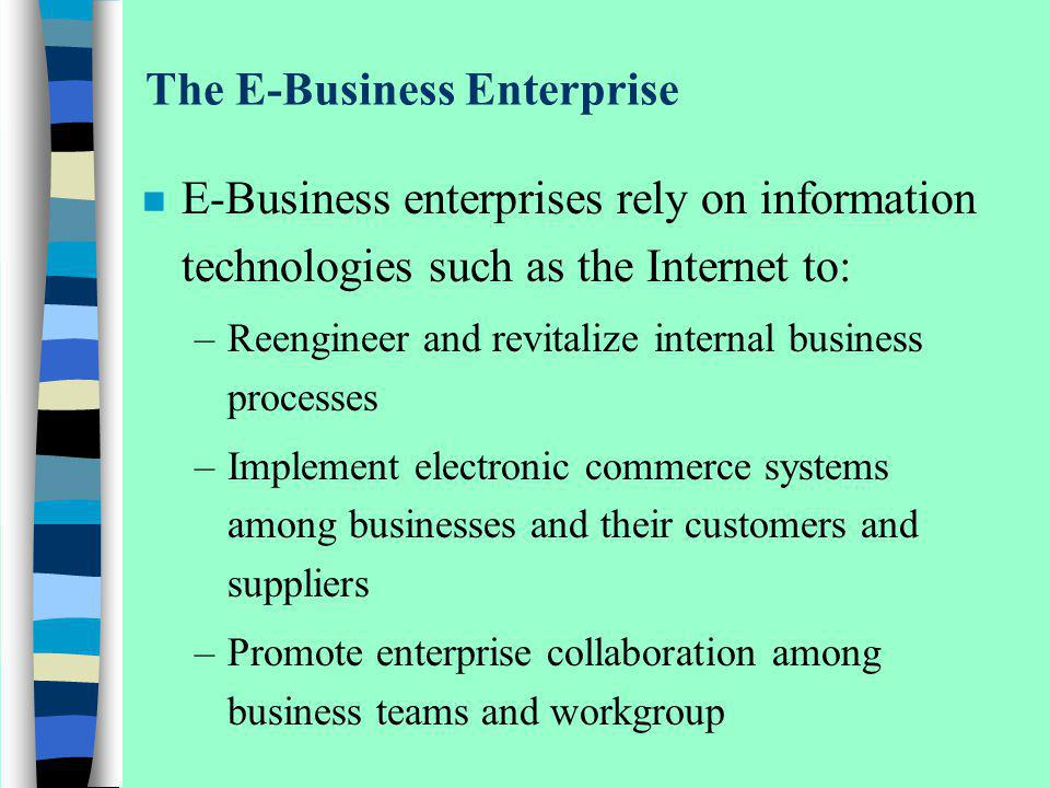 The E-Business Enterprise