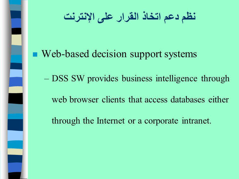 نظم دعم اتخاذ القرار على الإنترنت
