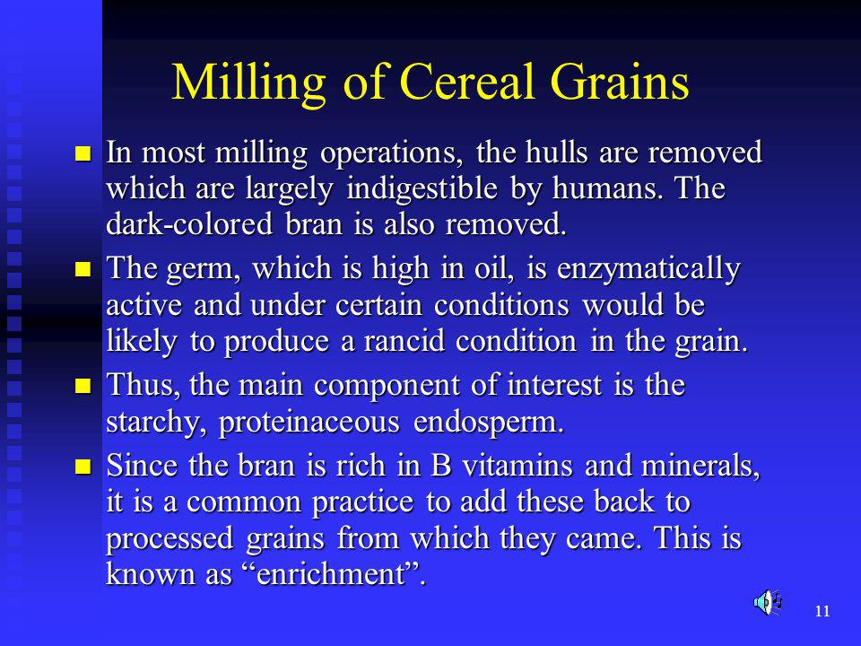 Milling of Cereal Grains