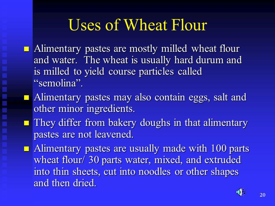 Uses of Wheat Flour