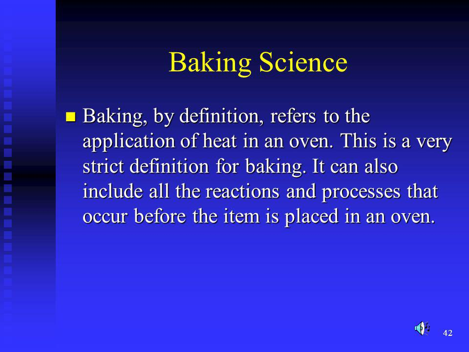 Baking Science