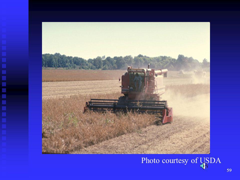 Soybeans are grown extensively in the midwest primarily as a protein source in animal feeds.
