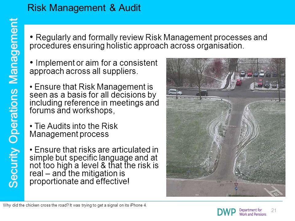 Risk Management & Audit