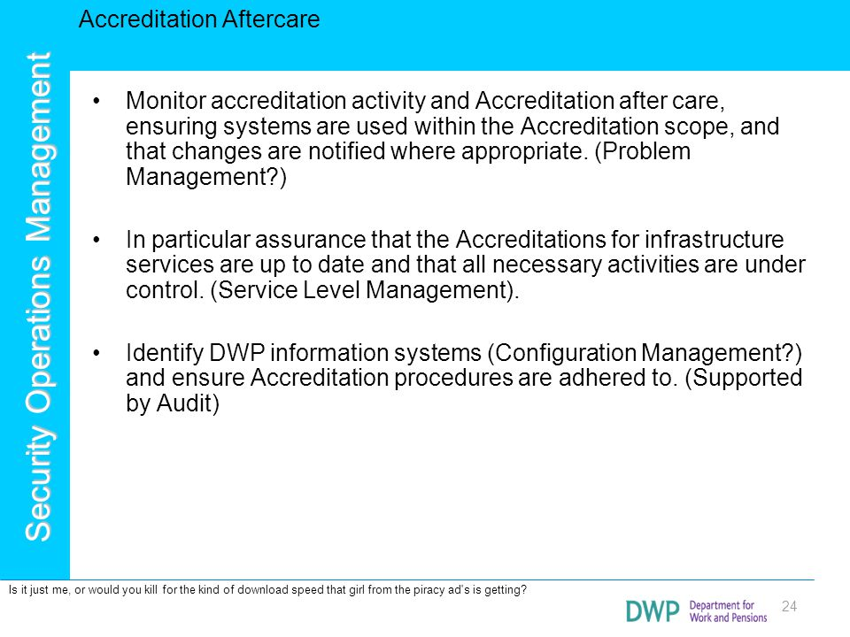 Accreditation Aftercare