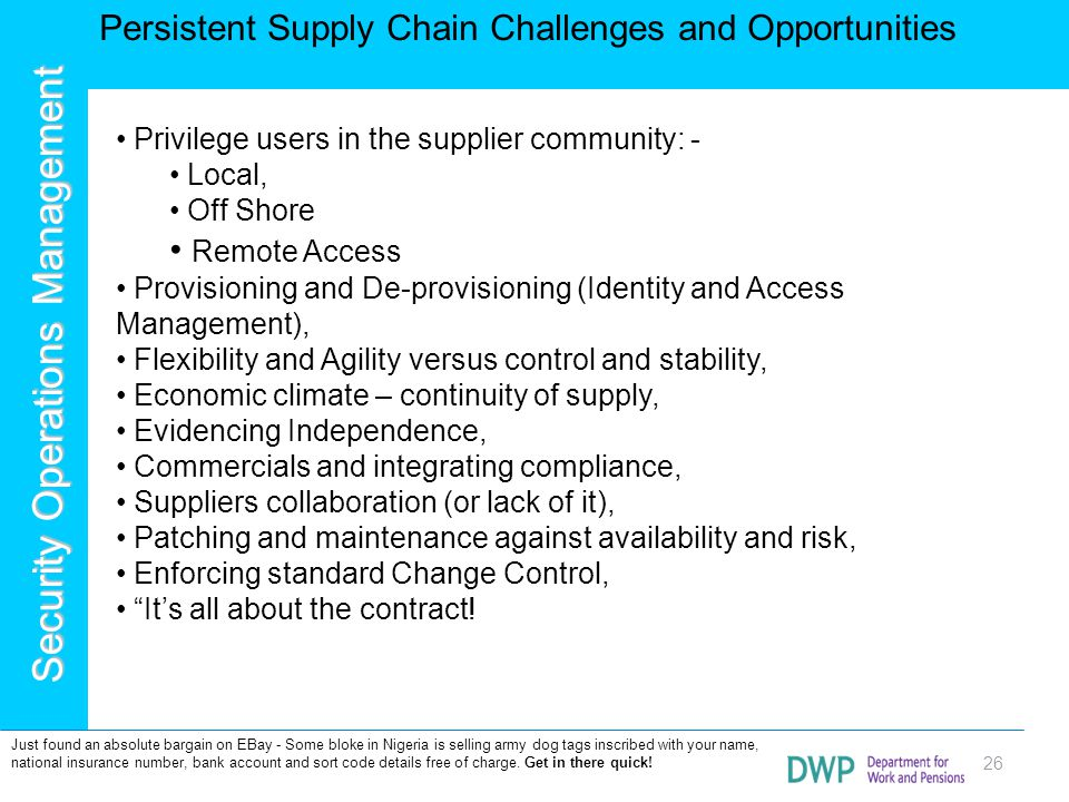 Persistent Supply Chain Challenges and Opportunities