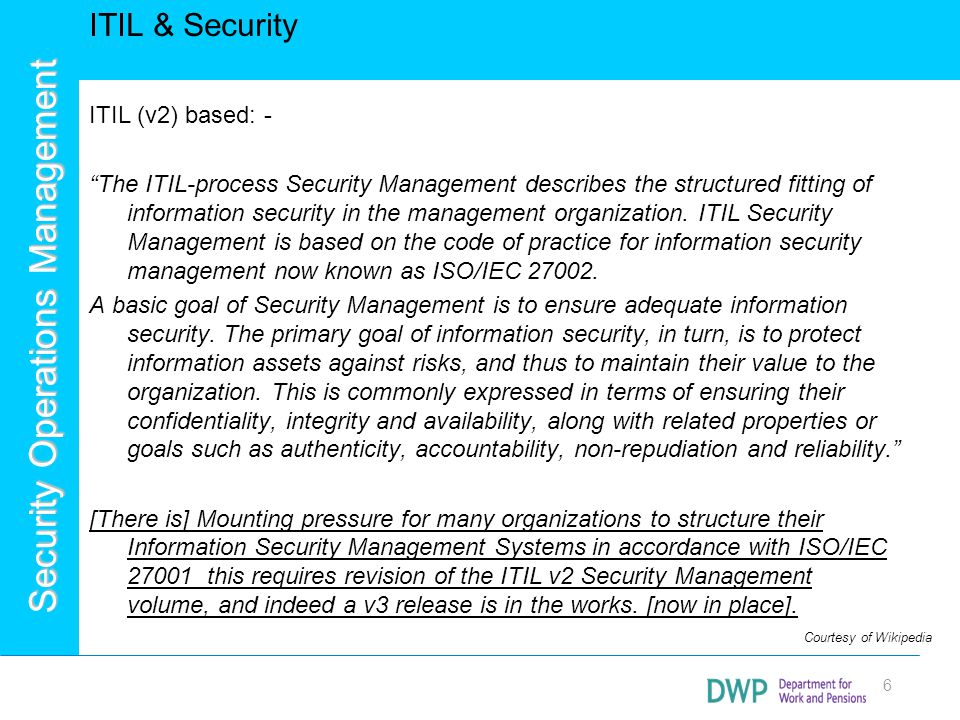 ITIL & Security