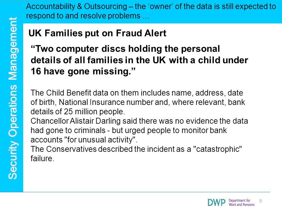 UK Families put on Fraud Alert