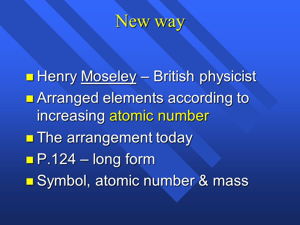 New way Henry Moseley – British physicist