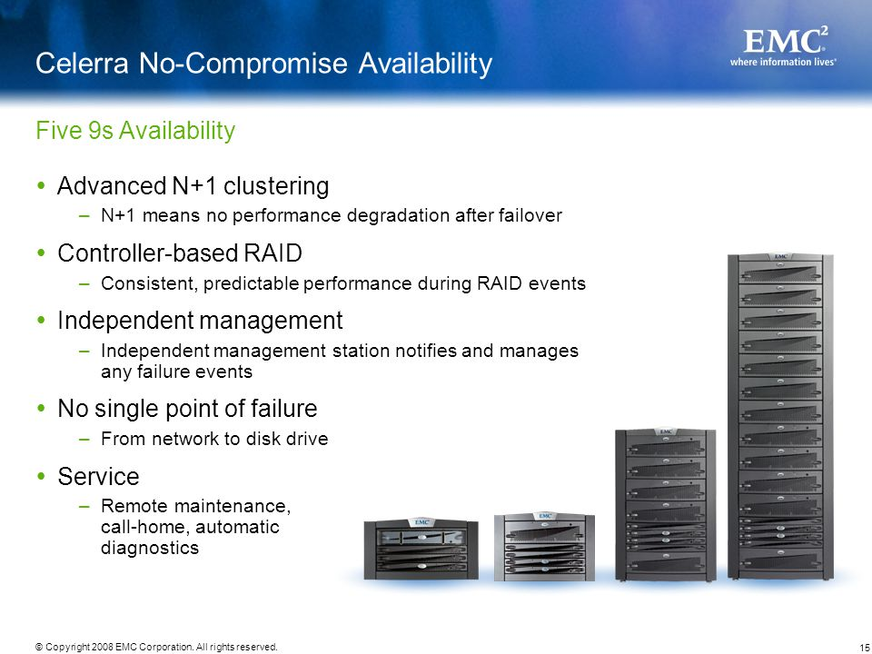 Celerra No-Compromise Availability