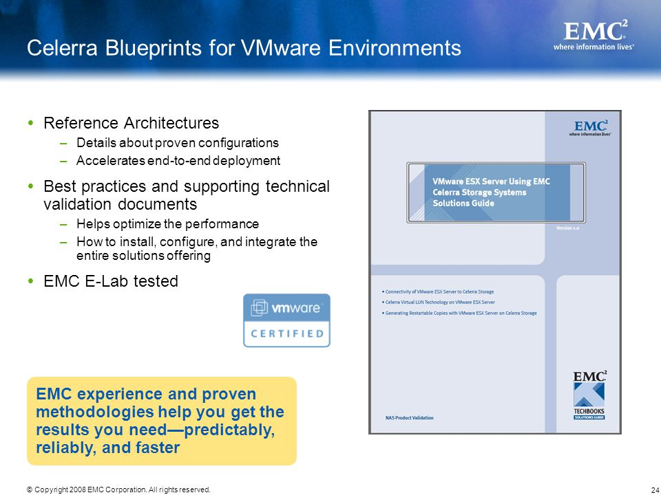 Celerra Blueprints for VMware Environments