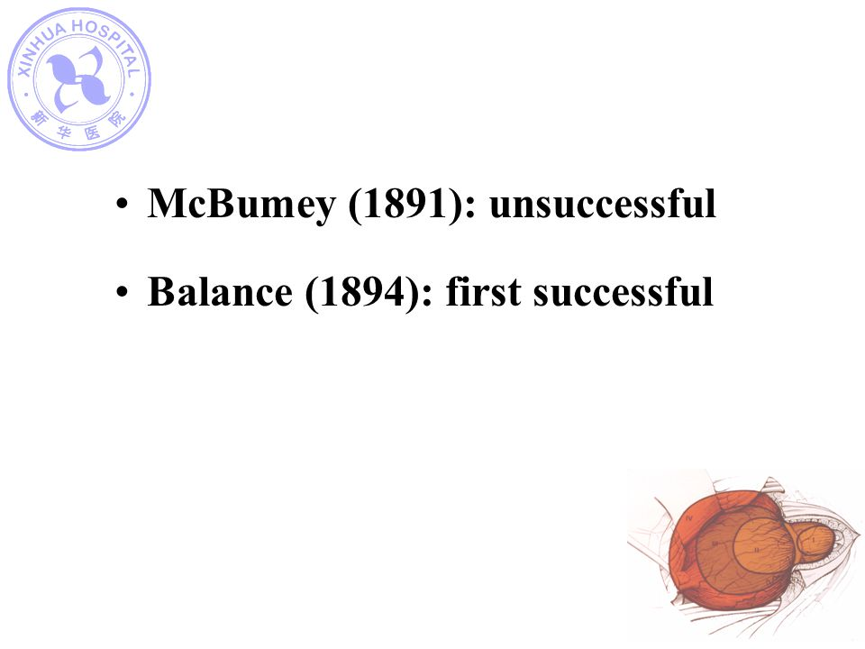 McBumey (1891): unsuccessful