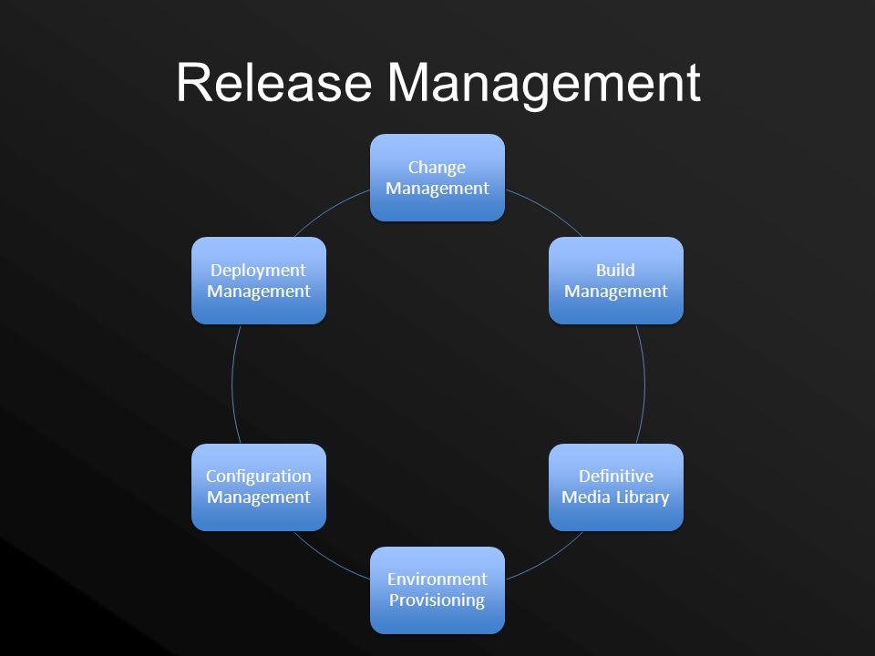 Release Management Change Management Build Management