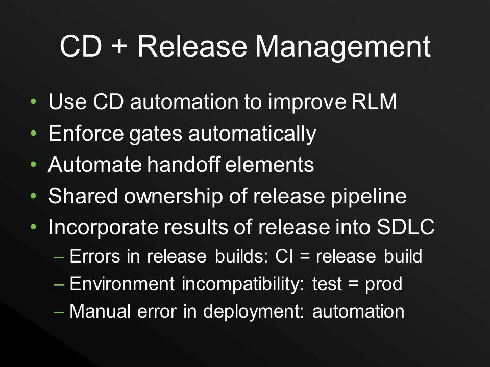 CD + Release Management