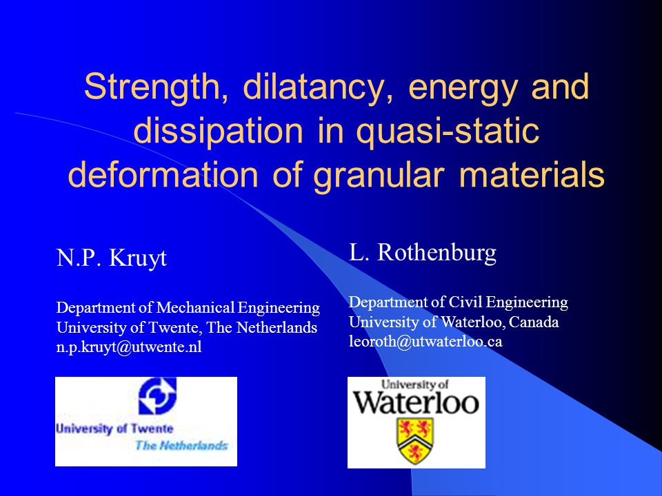 Strength, dilatancy, energy and dissipation in quasi-static deformation of granular materials