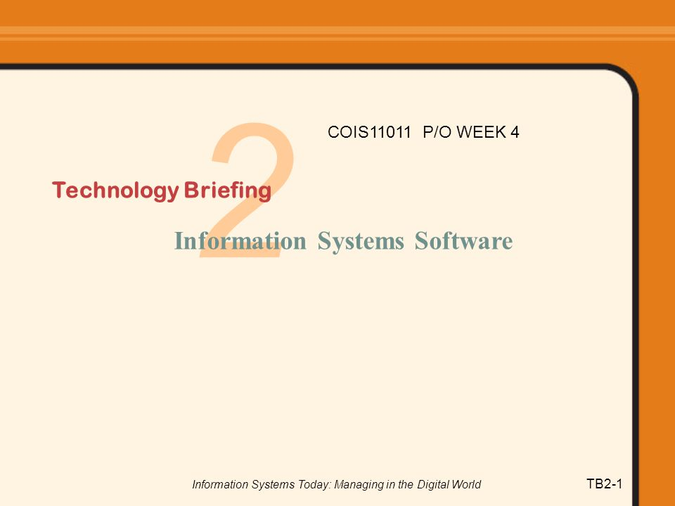 Information Systems Today: Managing in the Digital World