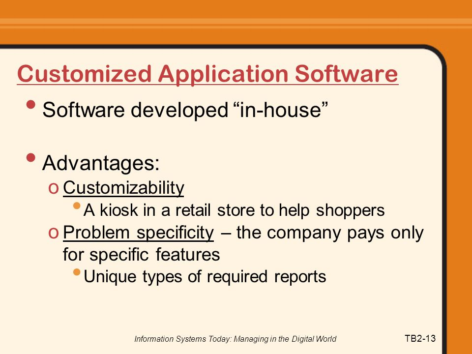 Customized Application Software