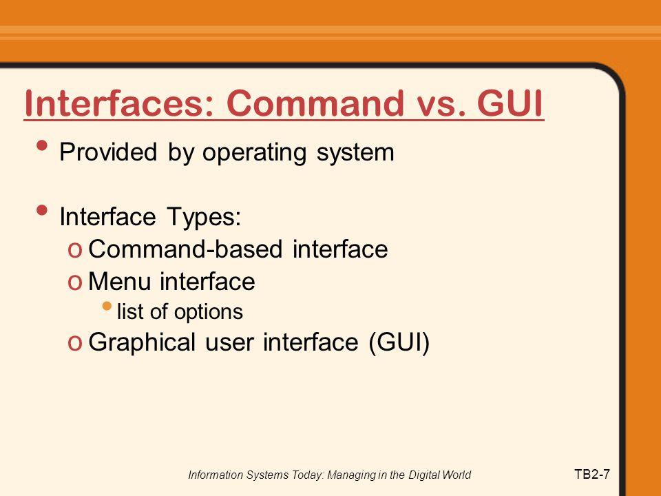Interfaces: Command vs. GUI