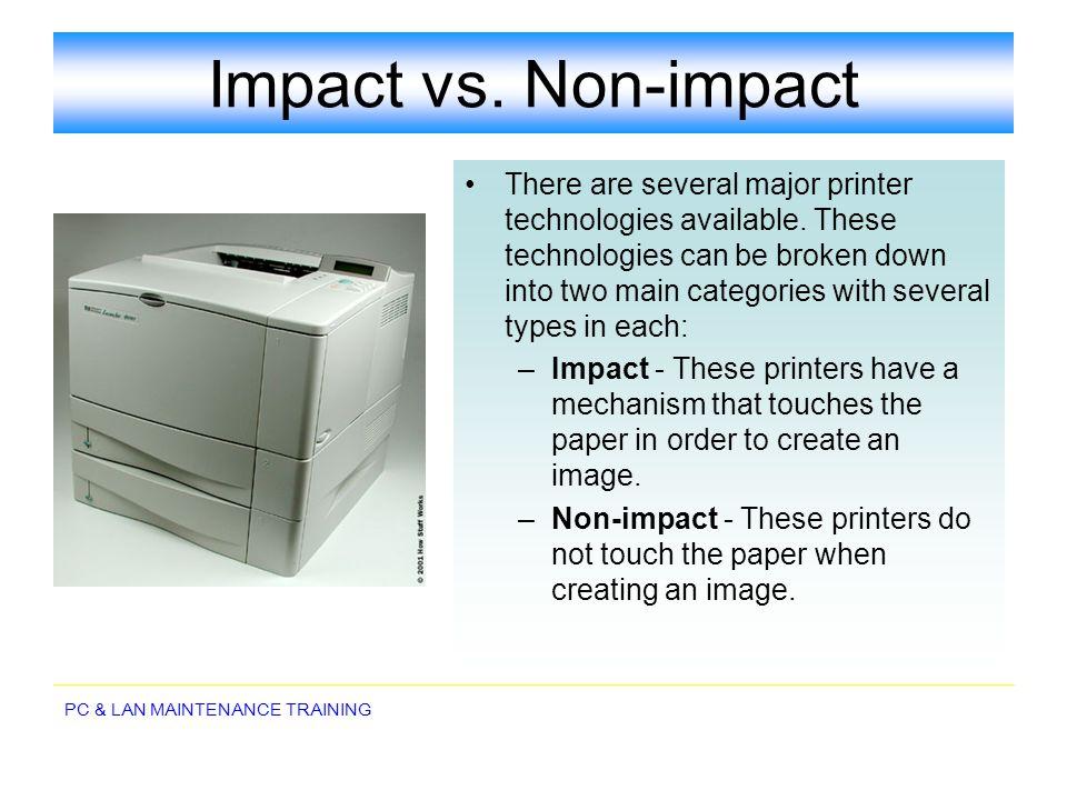 Impact vs. Non-impact