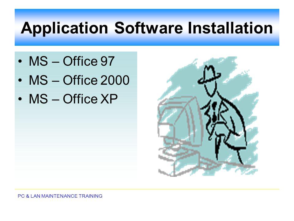 Application Software Installation