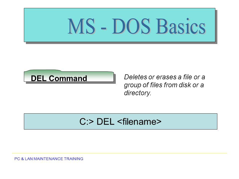 C:> DEL <filename>