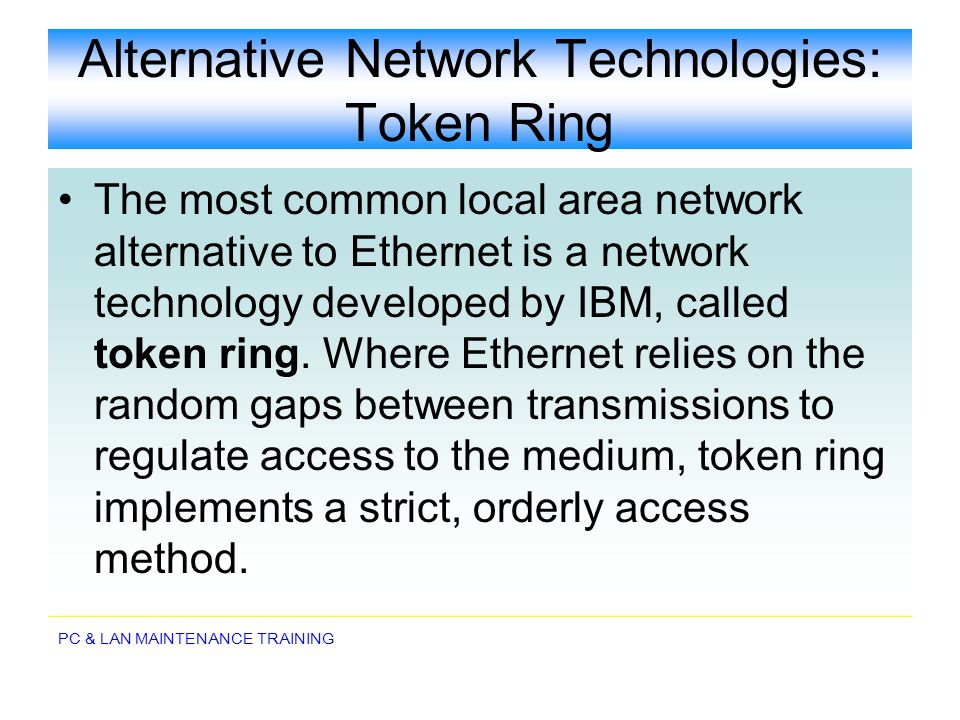Alternative Network Technologies: Token Ring