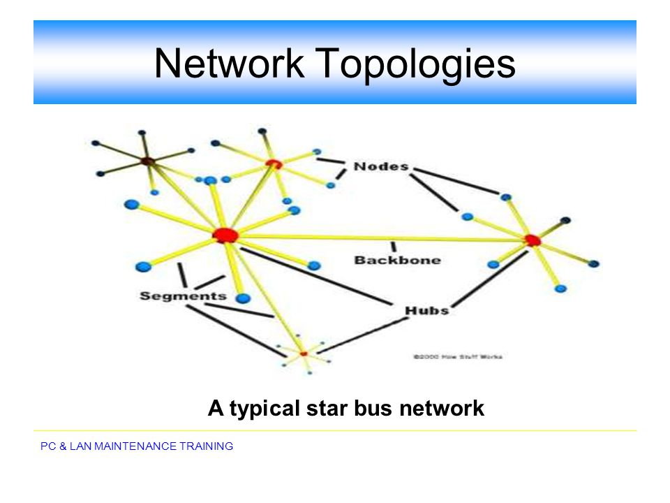 A typical star bus network
