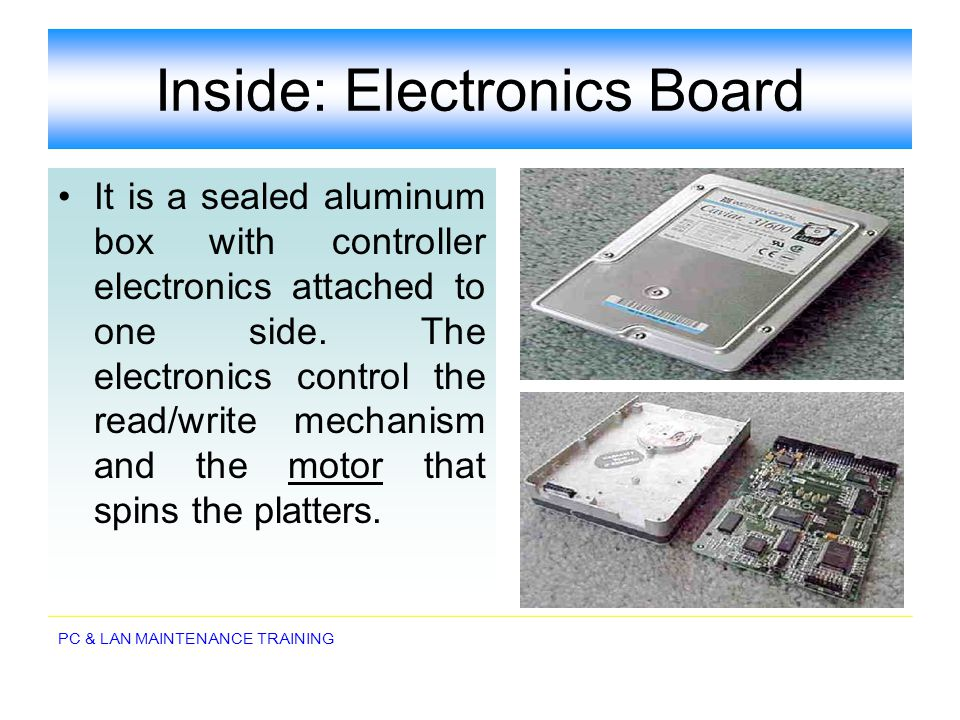 Inside: Electronics Board