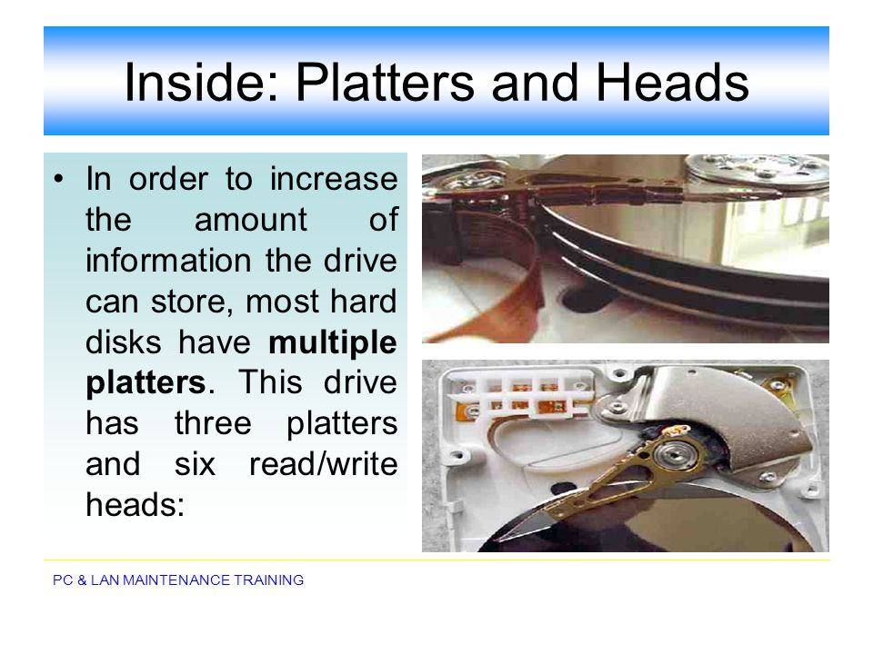 Inside: Platters and Heads