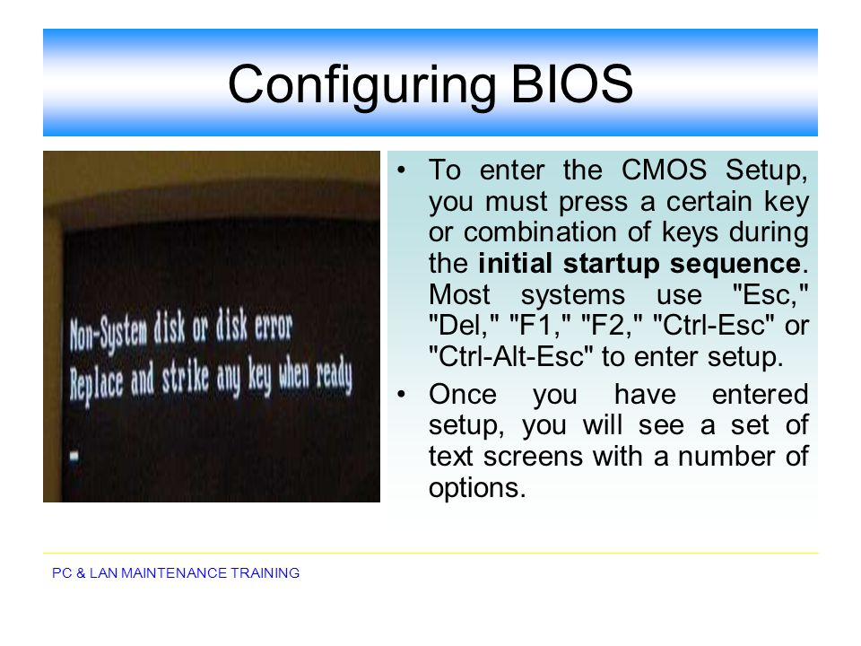 Configuring BIOS