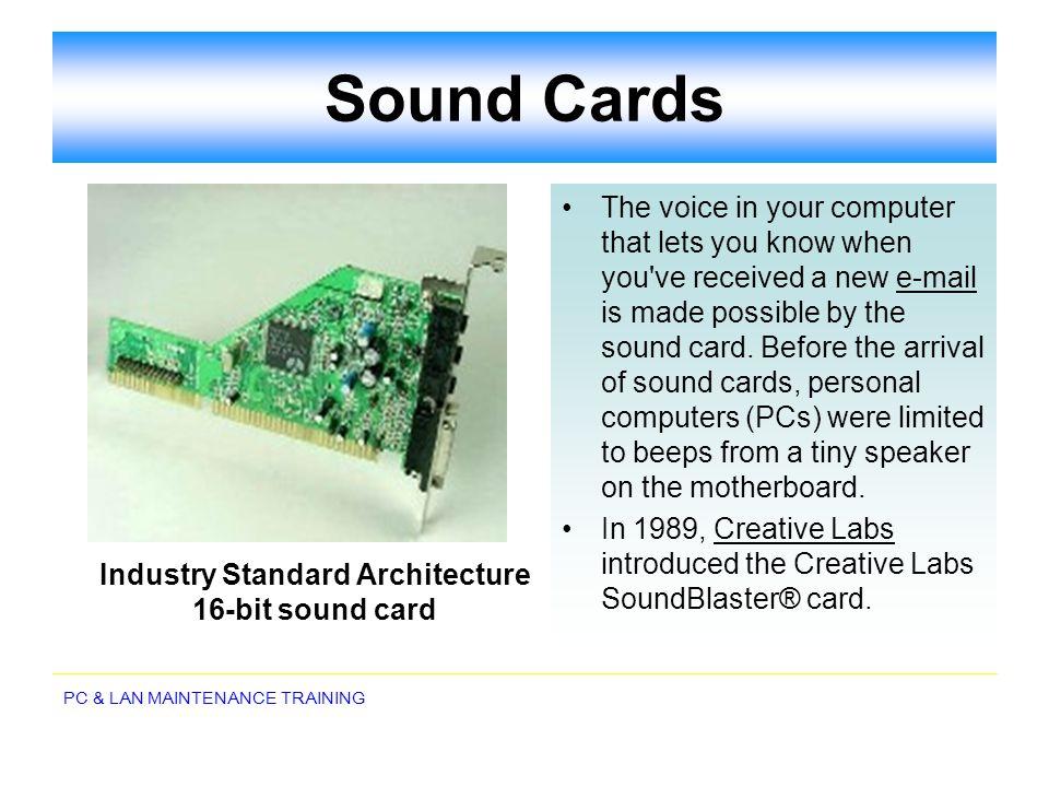 Industry Standard Architecture 16-bit sound card