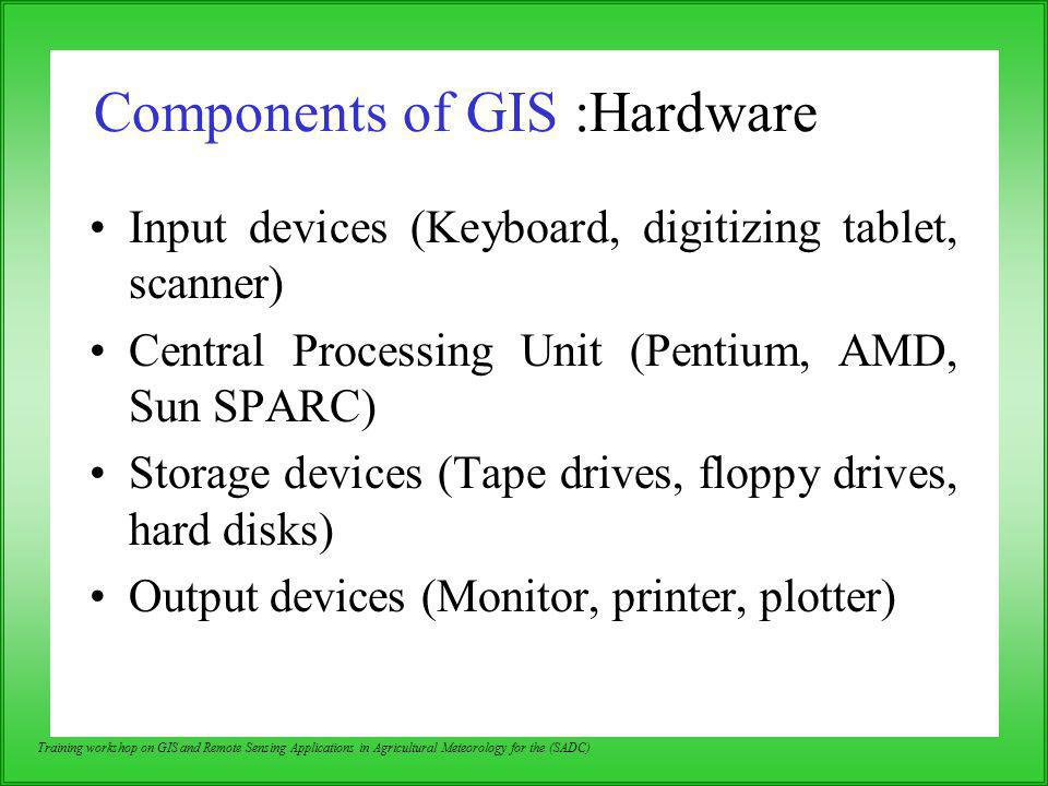 Components of GIS :Hardware