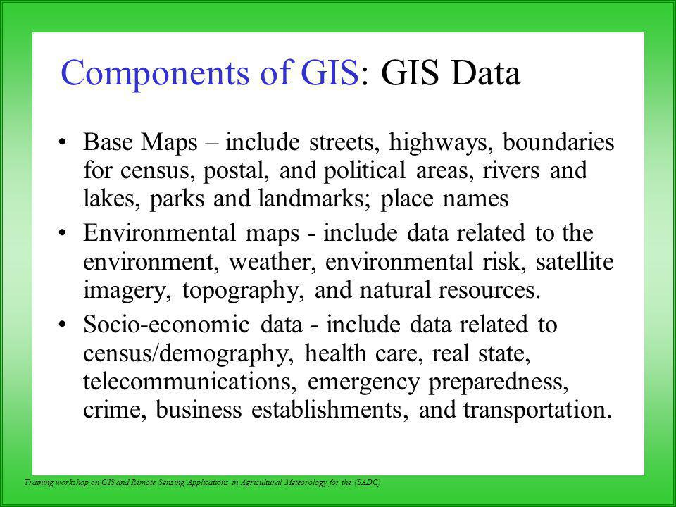Components of GIS: GIS Data