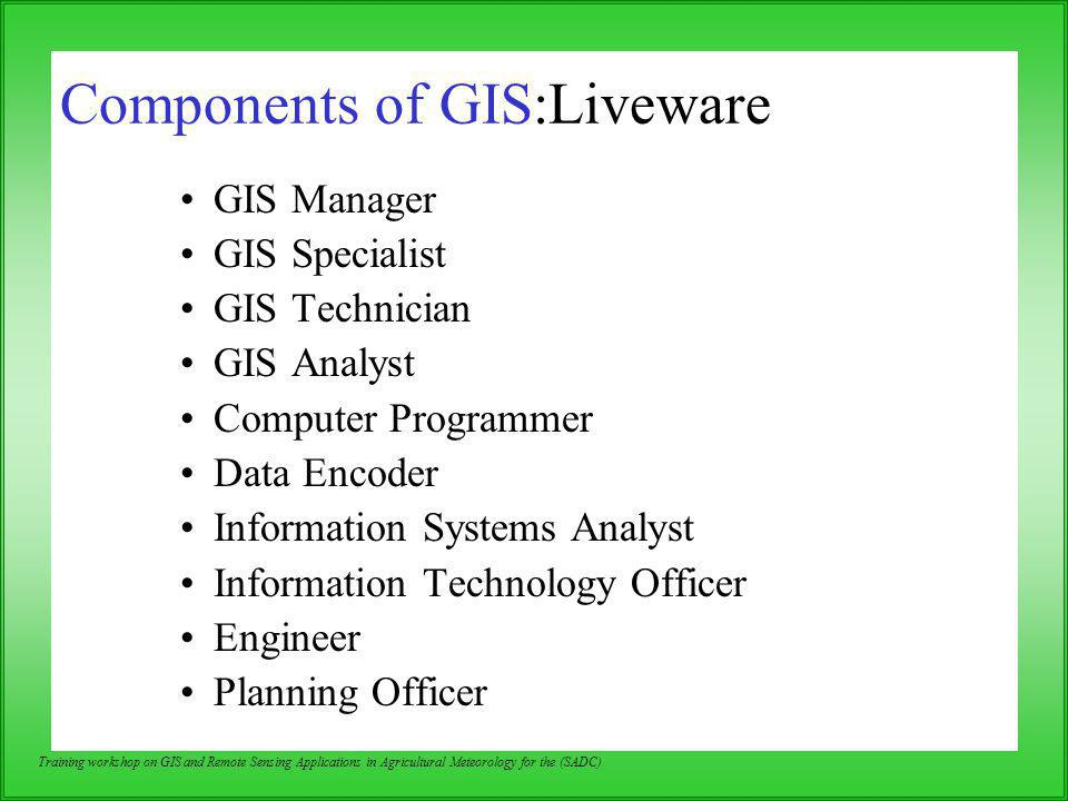 Components of GIS:Liveware