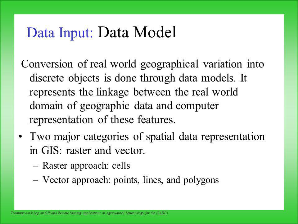 Data Input: Data Model