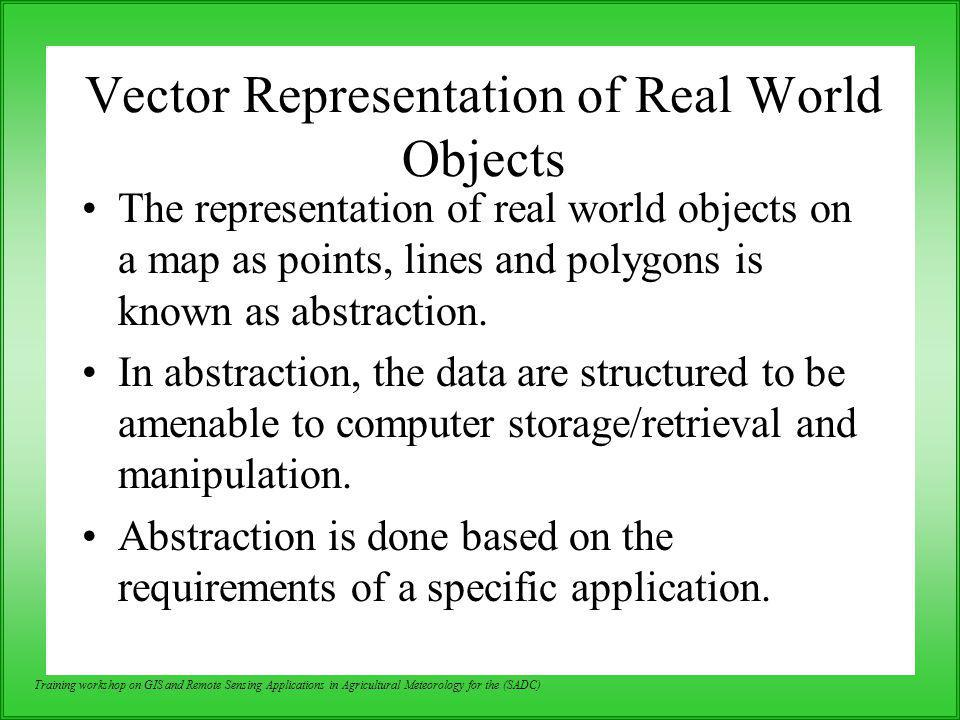 Vector Representation of Real World Objects