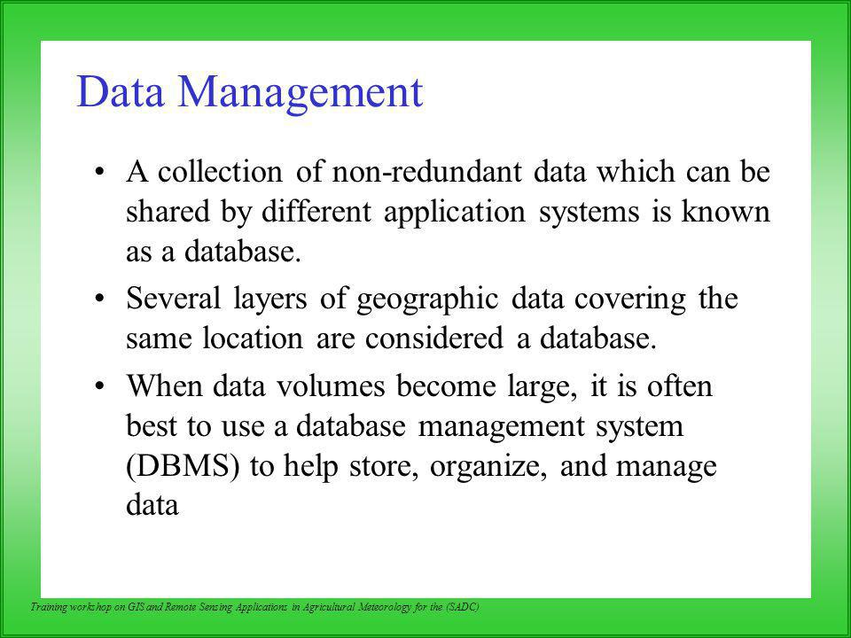 Data Management A collection of non-redundant data which can be shared by different application systems is known as a database.