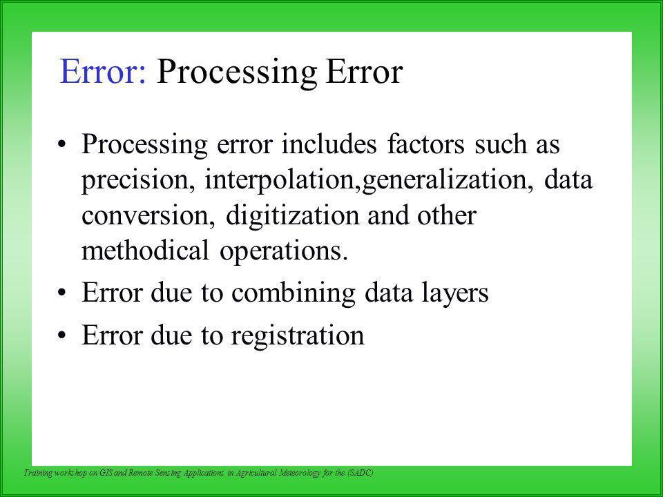 Error: Processing Error