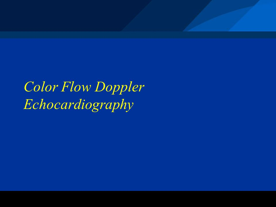 Color Flow Doppler Echocardiography
