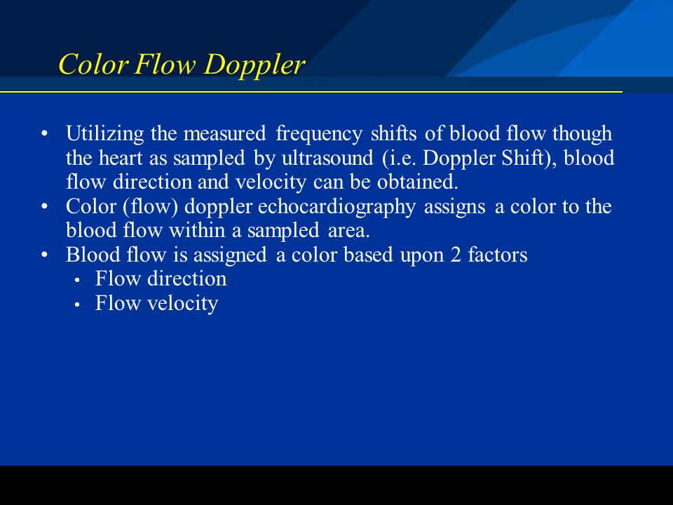 Color Flow Doppler