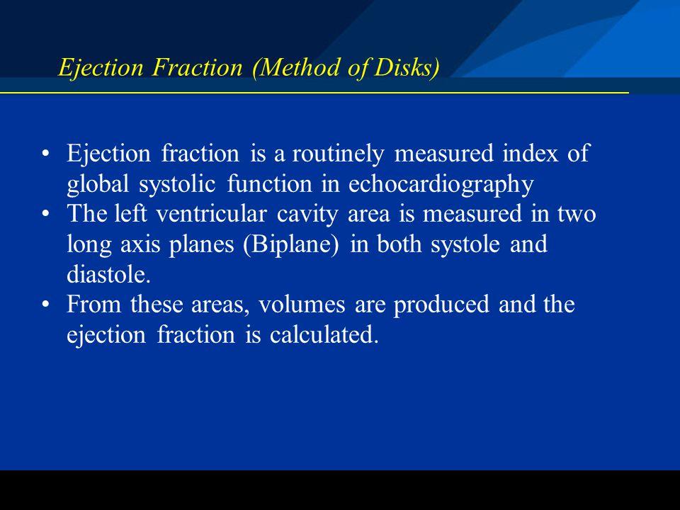 Ejection Fraction (Method of Disks)