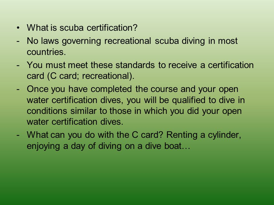 What is scuba certification