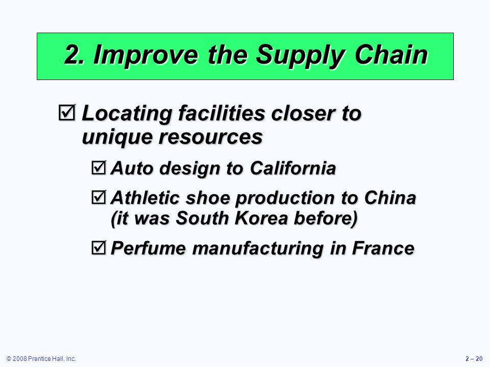 2. Improve the Supply Chain