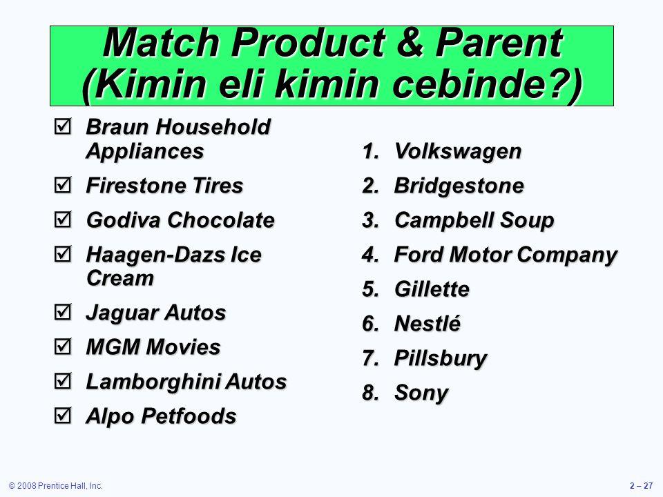 Match Product & Parent (Kimin eli kimin cebinde )