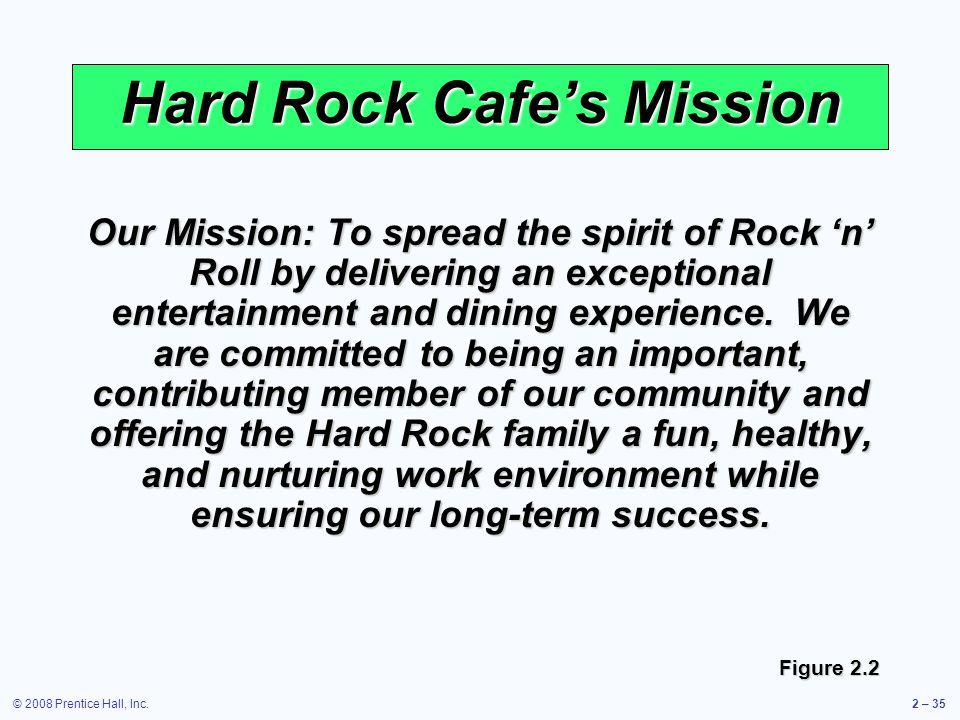 Hard Rock Cafe's Mission